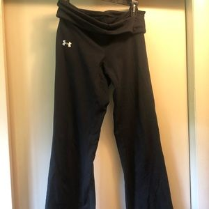 Women's Under Armour fold over yoga bootcut pants